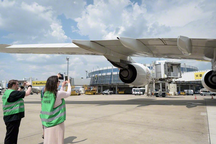 Besucherwelt am Flughafen Wien