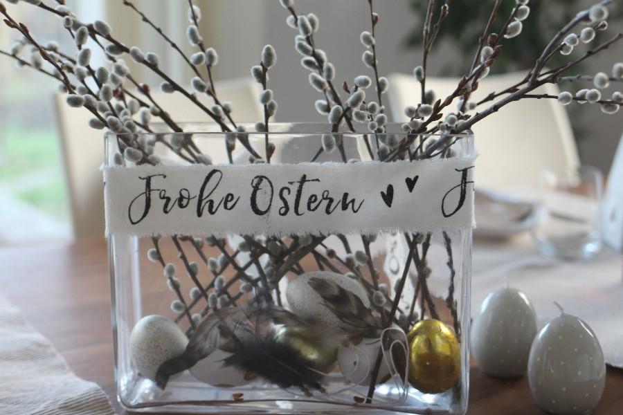 3 Vorschläge für eure Oster Tisch Deko – Hellblau, Gold und Gelb